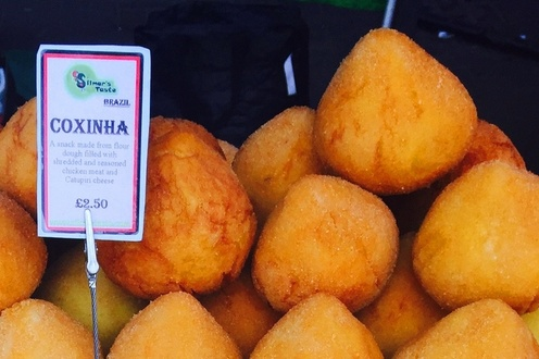 Coxinha - Snack Of Seasoned Shredded Chicken With Catupiri Cheese